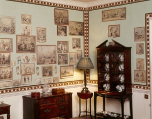 View of the Caricature Room at Calke Abbey